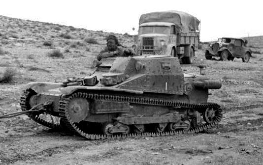 Nordafrika, italienischer Panzer L3/33